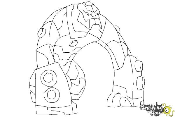 How To Draw Bloxx From Ben 10 Omniverse