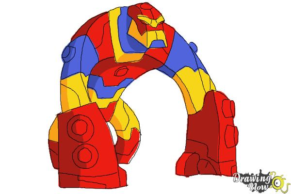 How to Draw Bloxx from Ben 10 Omniverse - Step 11