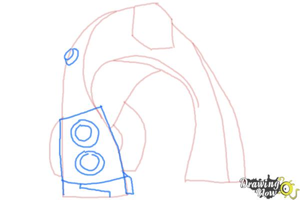 How to Draw Bloxx from Ben 10 Omniverse - Step 5