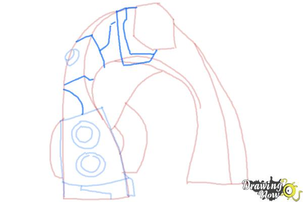 How to Draw Bloxx from Ben 10 Omniverse - Step 6