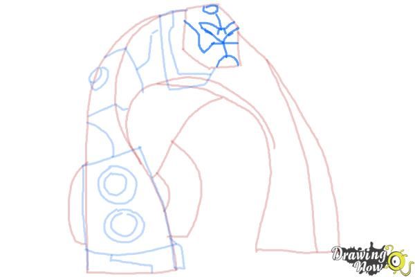 How to Draw Bloxx from Ben 10 Omniverse - Step 7