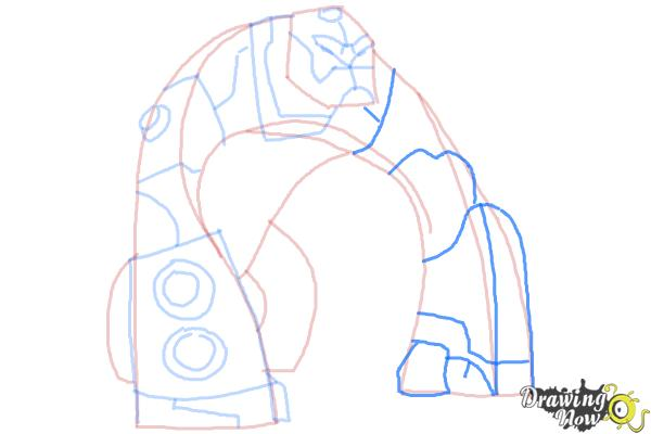 How to Draw Bloxx from Ben 10 Omniverse - Step 8