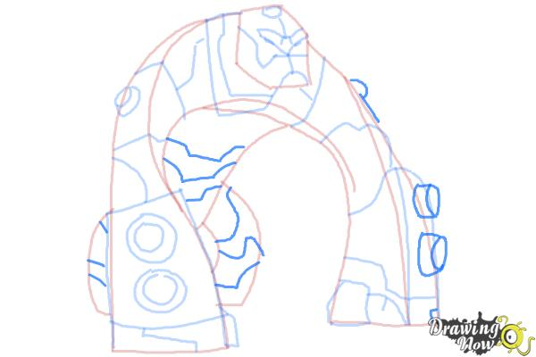 How to Draw Bloxx from Ben 10 Omniverse - Step 9