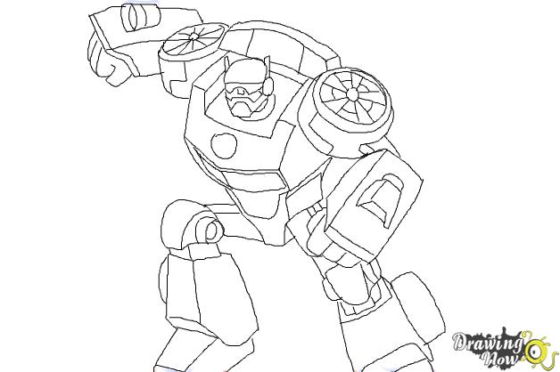 How To Draw Chase From Transformers Rescue Bots Drawingnow Rescue Bot Coloring Pages