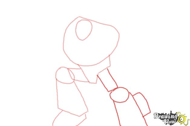 How to Draw Chase from Transformers Rescue Bots - Step 3