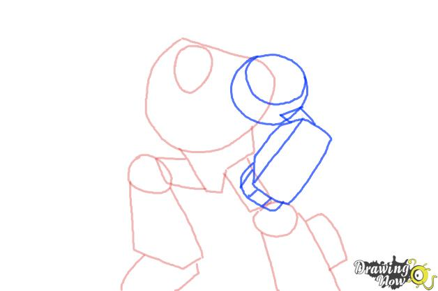 How to Draw Chase from Transformers Rescue Bots - Step 4