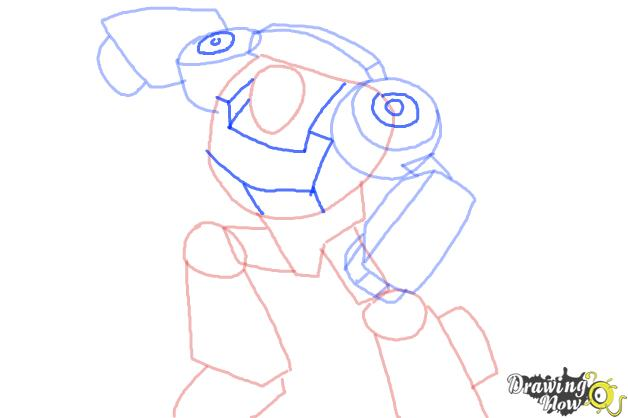 How to Draw Chase from Transformers Rescue Bots - Step 6