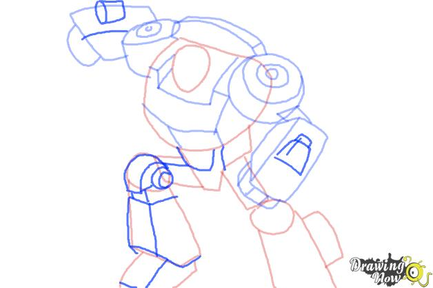 How to Draw Chase from Transformers Rescue Bots - Step 7