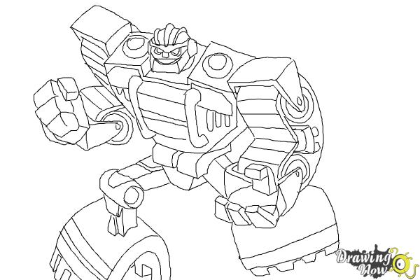How to draw boulder from transformers rescue bots drawingnow for Rescue bots heatwave coloring page