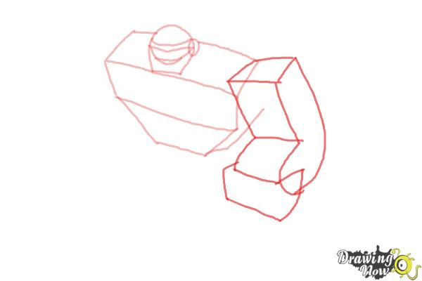 How to Draw Boulder from Transformers Rescue Bots - Step 3