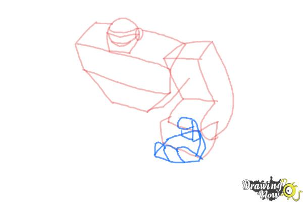 How to Draw Boulder from Transformers Rescue Bots - Step 4