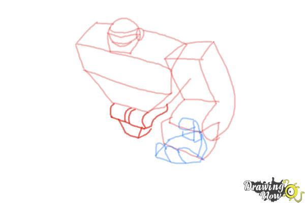How to Draw Boulder from Transformers Rescue Bots - Step 5