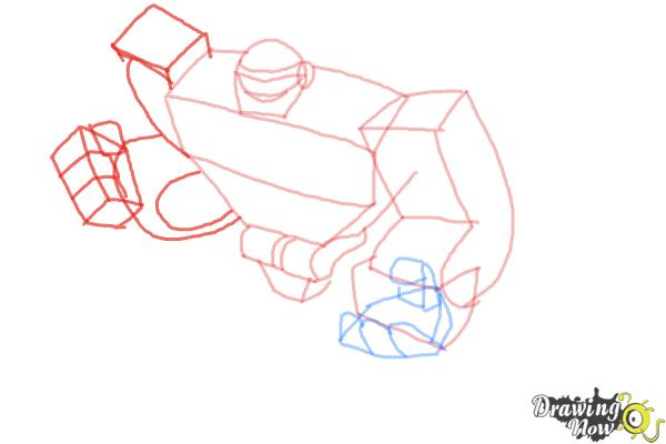 How to Draw Boulder from Transformers Rescue Bots - Step 6