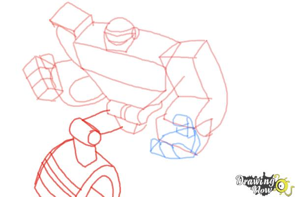 How to Draw Boulder from Transformers Rescue Bots - Step 7