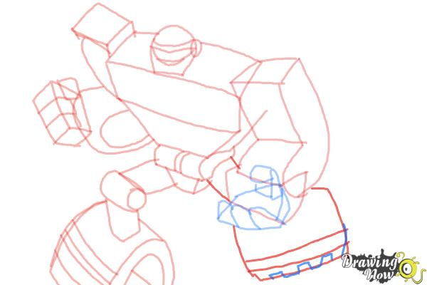 How to Draw Boulder from Transformers Rescue Bots - Step 8