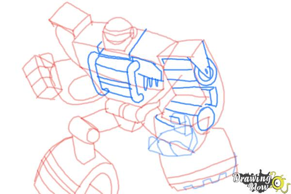How to Draw Boulder from Transformers Rescue Bots - Step 9
