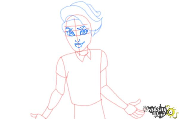 How to Draw Porter Geiss from Monster High - Step 6