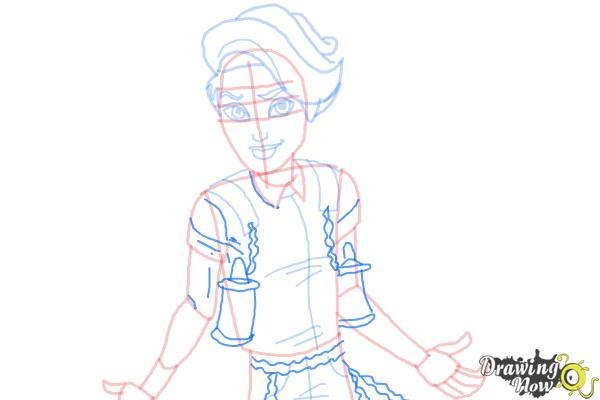 How to Draw Porter Geiss from Monster High - Step 8