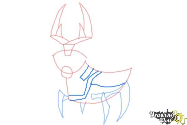How to Draw Ballweevil from Ben 10 Omniverse - Step 7