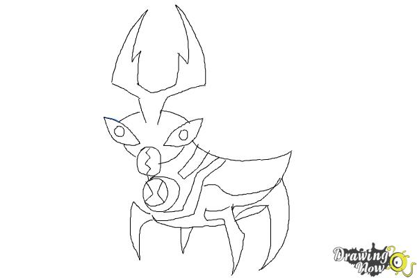 How to Draw Ballweevil from Ben 10 Omniverse - Step 9