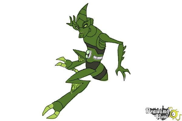 How to Draw Crashhopper from Ben 10 Omniverse - Step 10