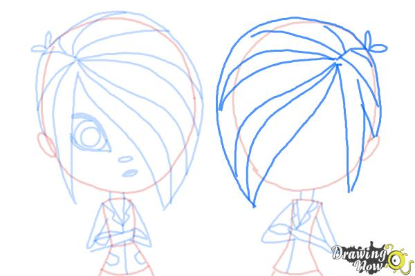 How to Draw The Biskit Twins from Littlest Pet Shop - Step 10