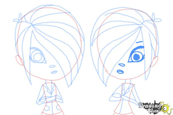 How to Draw The Biskit Twins from Littlest Pet Shop - Step 11