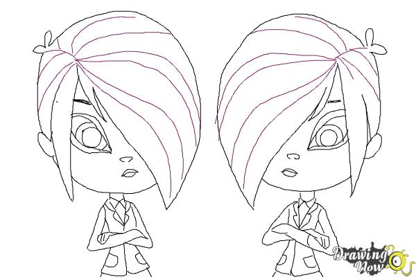How to Draw The Biskit Twins from Littlest Pet Shop - Step 12