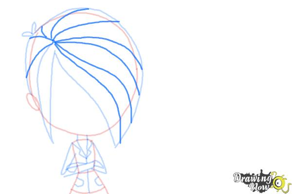 How to Draw The Biskit Twins from Littlest Pet Shop - Step 6