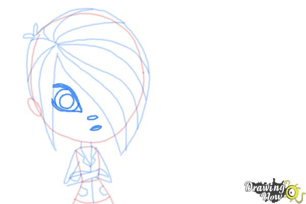 How to Draw The Biskit Twins from Littlest Pet Shop - Step 7