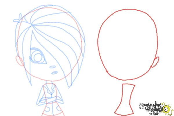 How to Draw The Biskit Twins from Littlest Pet Shop - Step 8