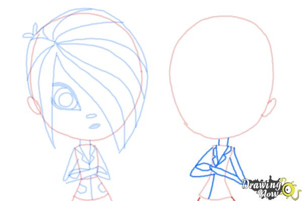 How to Draw The Biskit Twins from Littlest Pet Shop - Step 9