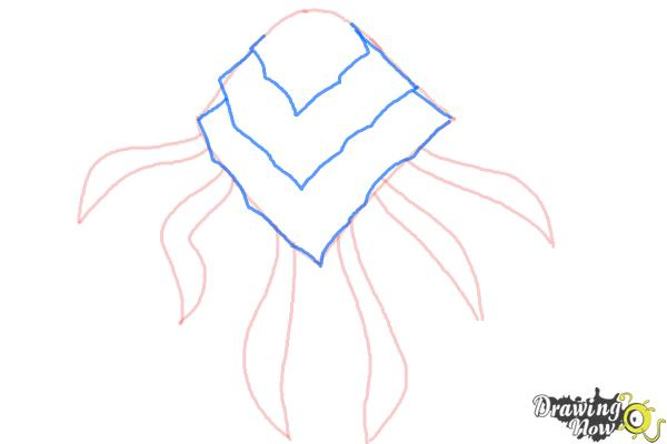 How to Draw Ampfibian from Ben 10 Omniverse - Step 3