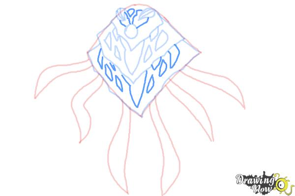 How to Draw Ampfibian from Ben 10 Omniverse - Step 6