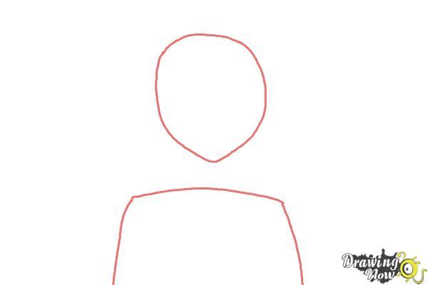 How to Draw Ichigo Momomiya from Tokyo Mew Mew - Step 1
