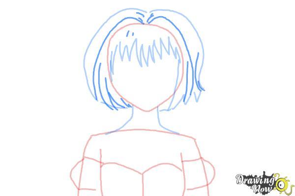 How to Draw Ichigo Momomiya from Tokyo Mew Mew - Step 5