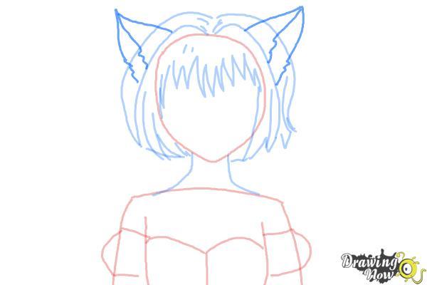 How to Draw Ichigo Momomiya from Tokyo Mew Mew - Step 6