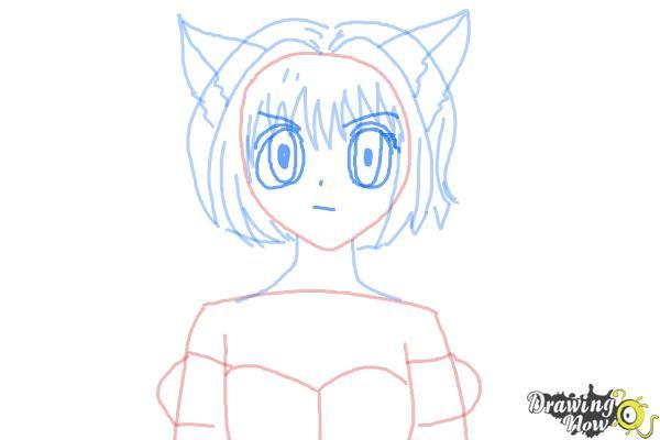 How to Draw Ichigo Momomiya from Tokyo Mew Mew - Step 7