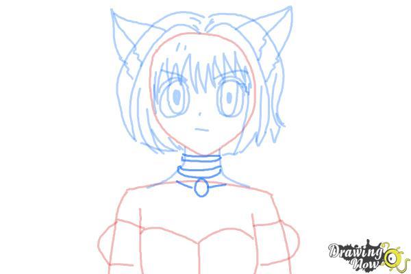 How to Draw Ichigo Momomiya from Tokyo Mew Mew - Step 8