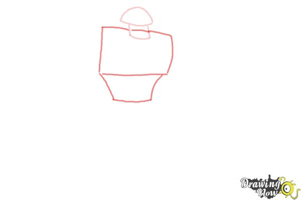 How to Draw Rath from Ben 10 Omniverse - Step 2