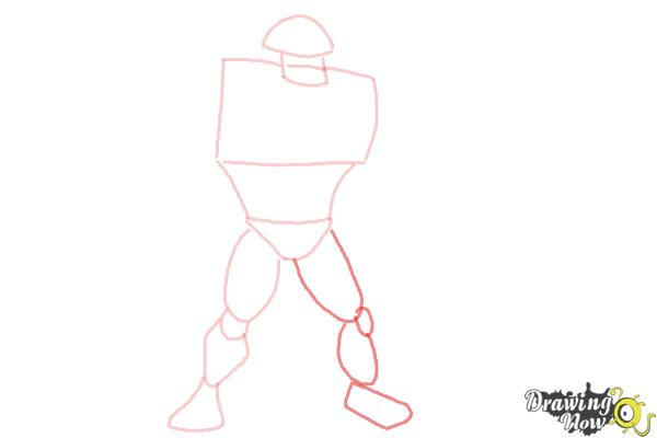 How to Draw Rath from Ben 10 Omniverse - Step 4