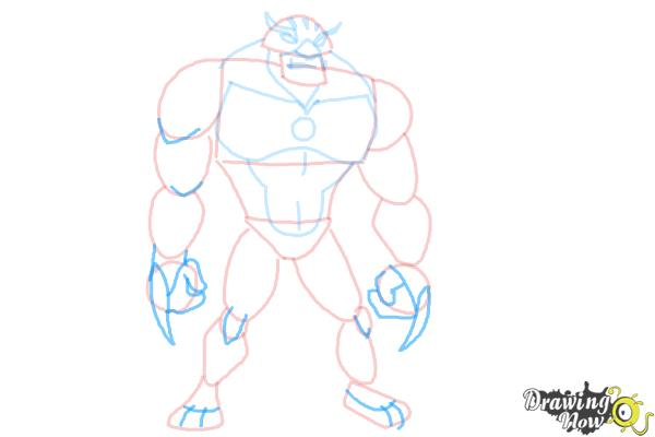 How to Draw Rath from Ben 10 Omniverse - Step 8