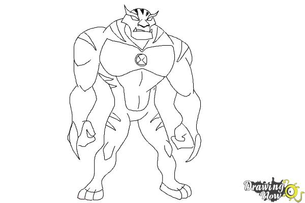 How to Draw Rath from Ben 10 Omniverse - Step 9