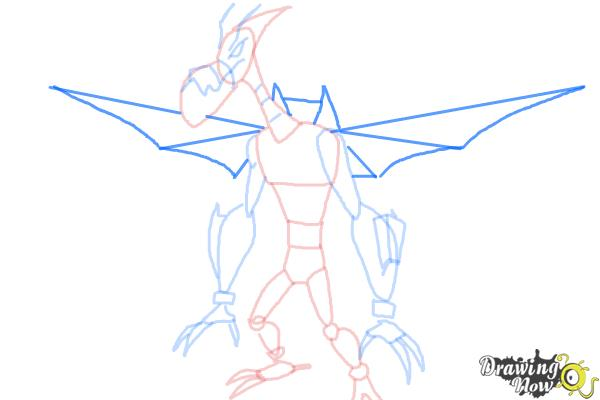 How to Draw Astrodactyl from Ben 10 Omniverse - Step 7