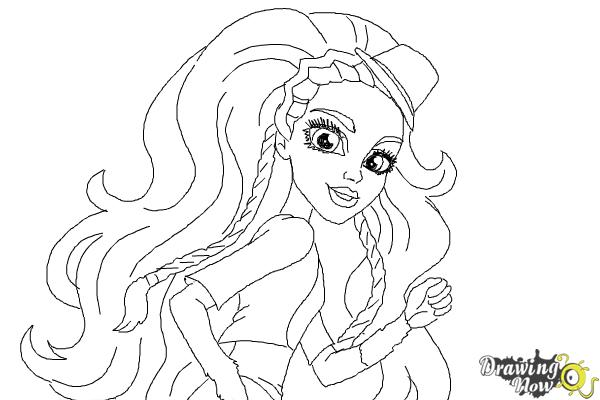 How to Draw Marisol Coxi from Monster High - Step 10