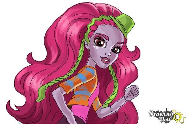 How to Draw Marisol Coxi from Monster High - Step 11