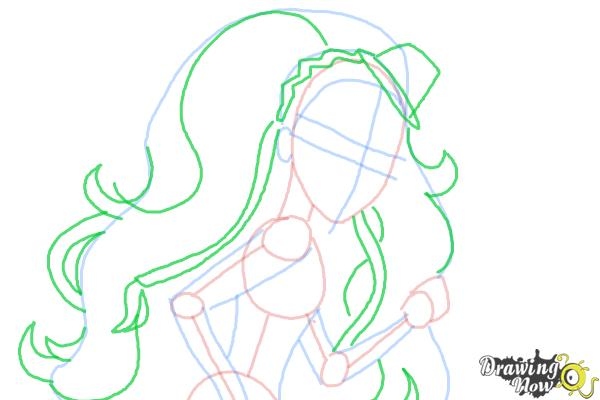How to Draw Marisol Coxi from Monster High - Step 7