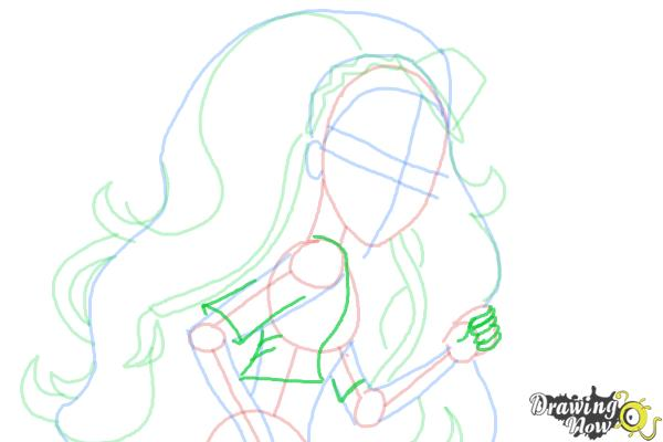 How to Draw Marisol Coxi from Monster High - Step 8