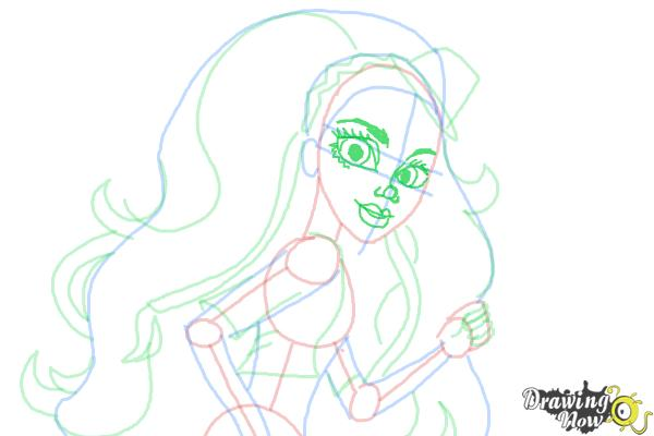 How to Draw Marisol Coxi from Monster High - Step 9