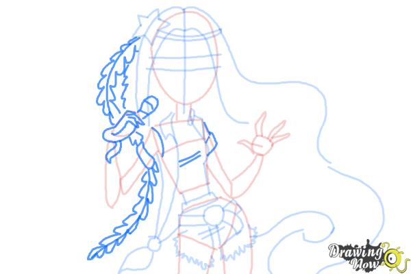 How to Draw Madison Fear from Monster High - Step 6